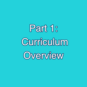 RE Curriculum Overview video