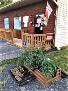 Planter at Page Food Pantry Luray