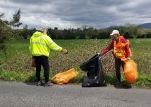 Jay and Sue Road cleanup