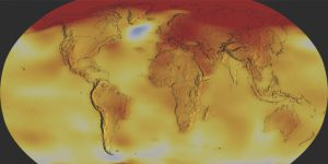 Global surface temperature 2020